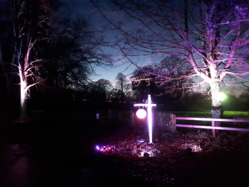 Creative sign lighting for events in lincolnshire