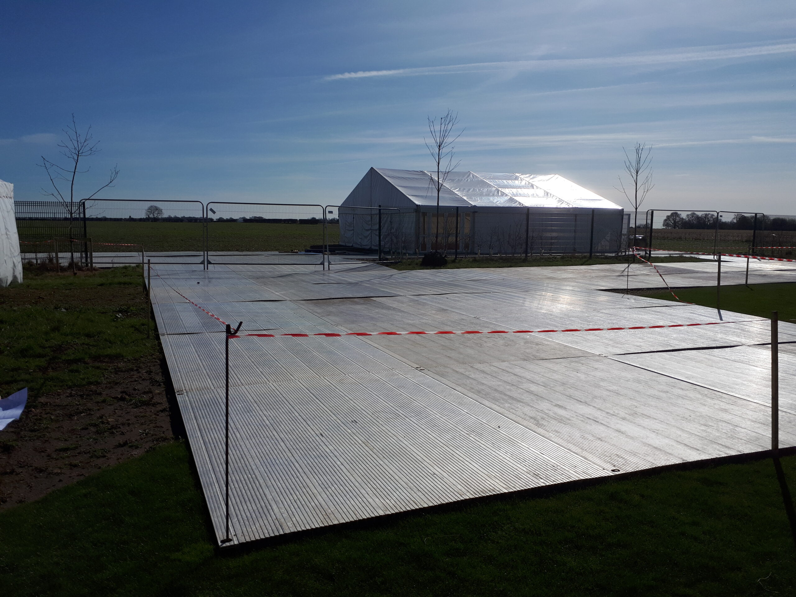 Stage pad to protect ground supplied by EES Showhire