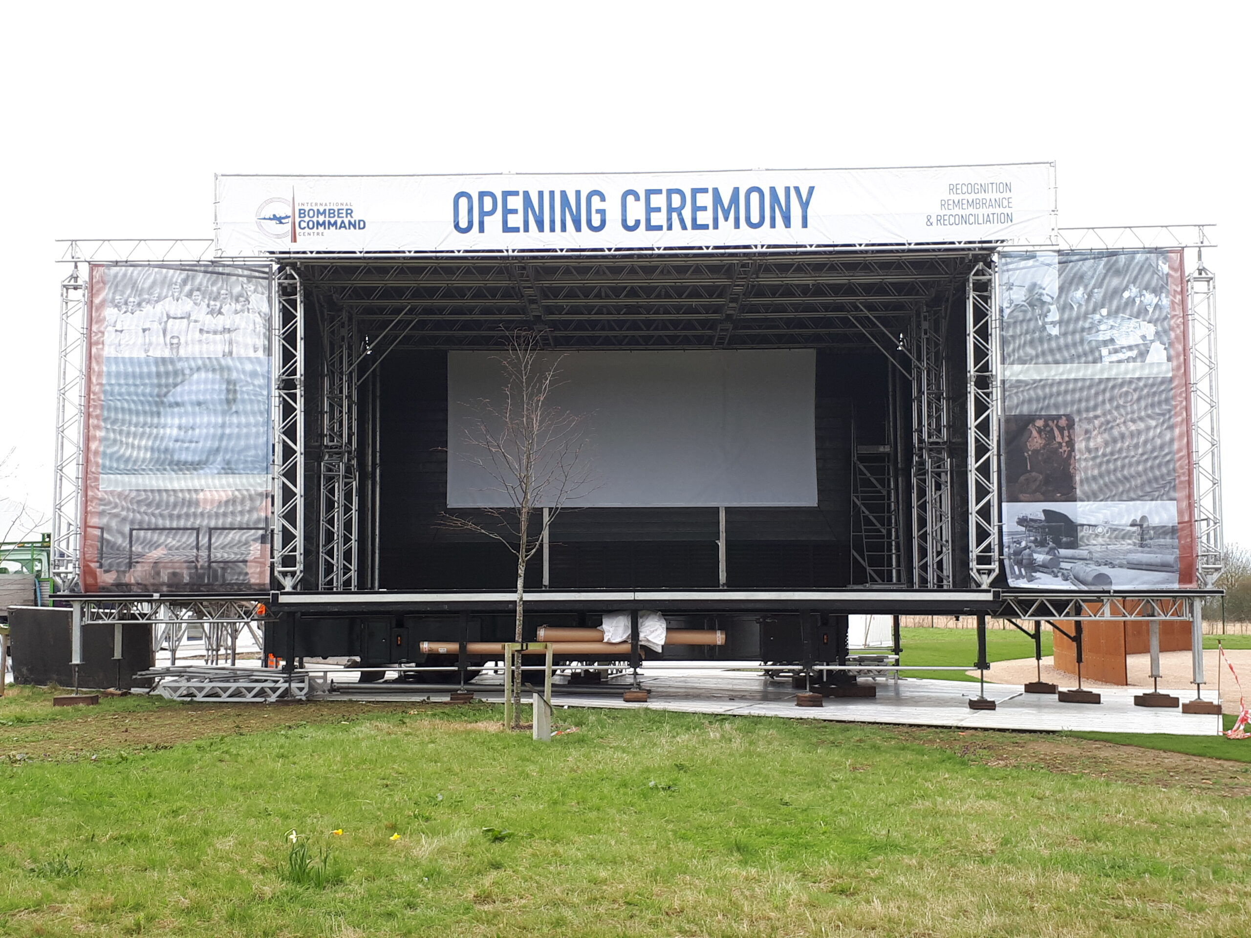 100m2 demountable stage supplied by EES Showhire