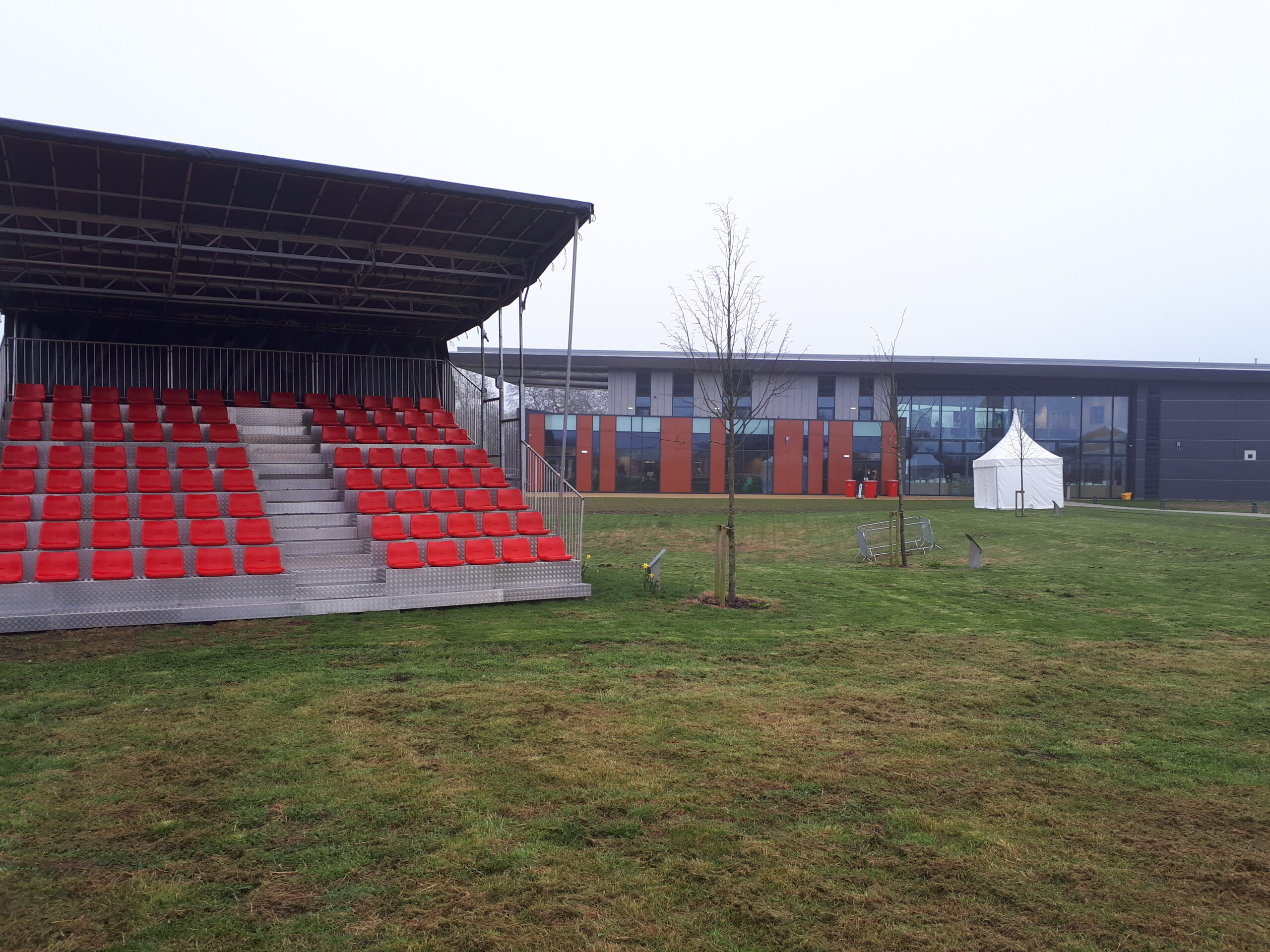 Grandstands and seating provided by EES Showhire for the IBCC opening event
