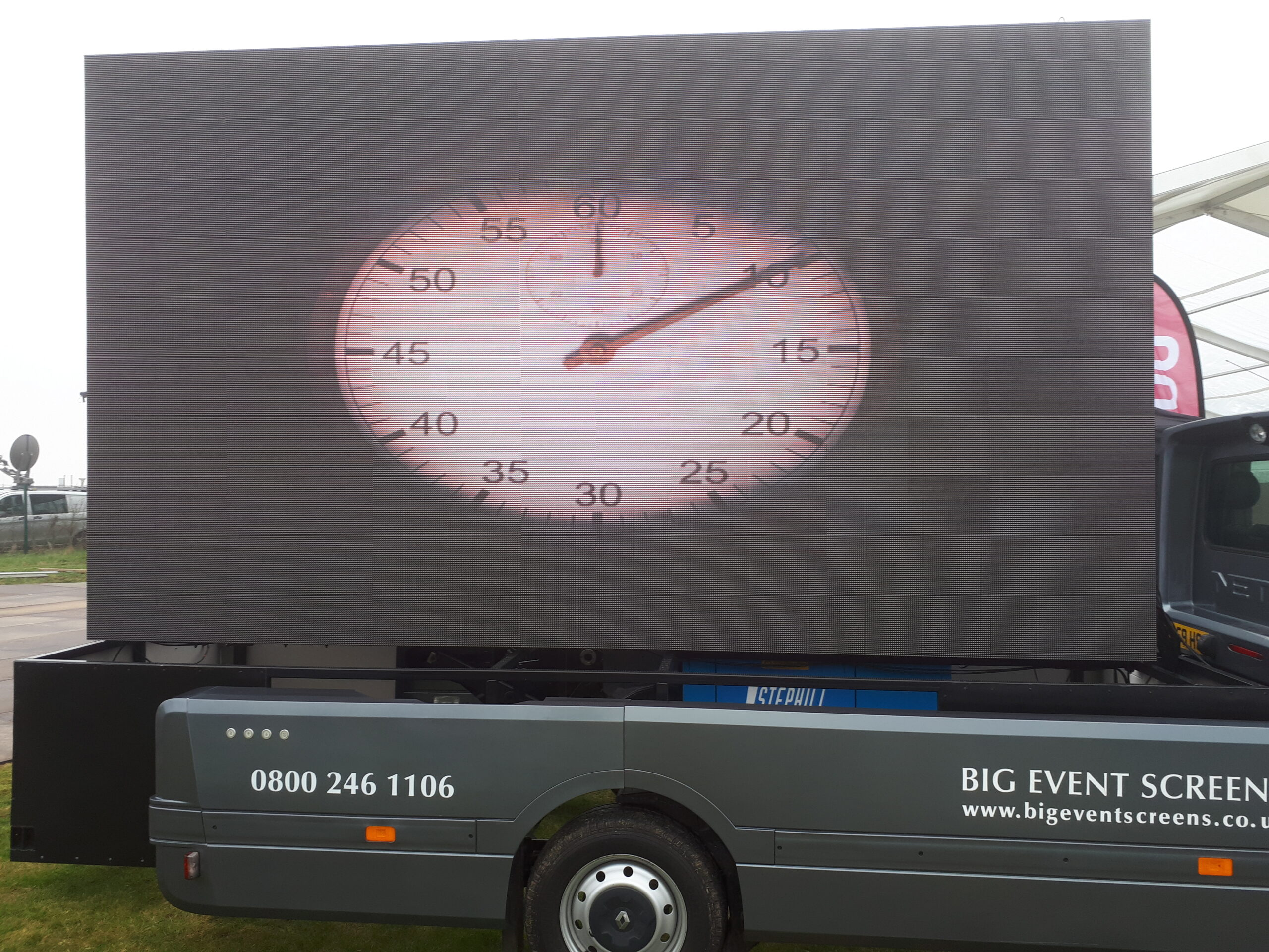Large format video screens supplied by EES Showhire