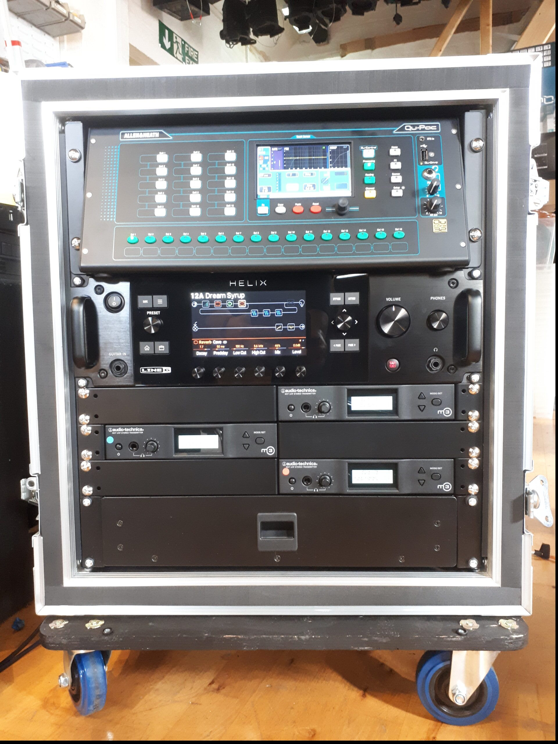 Mobile PA Installed in a rack by EES Showhire