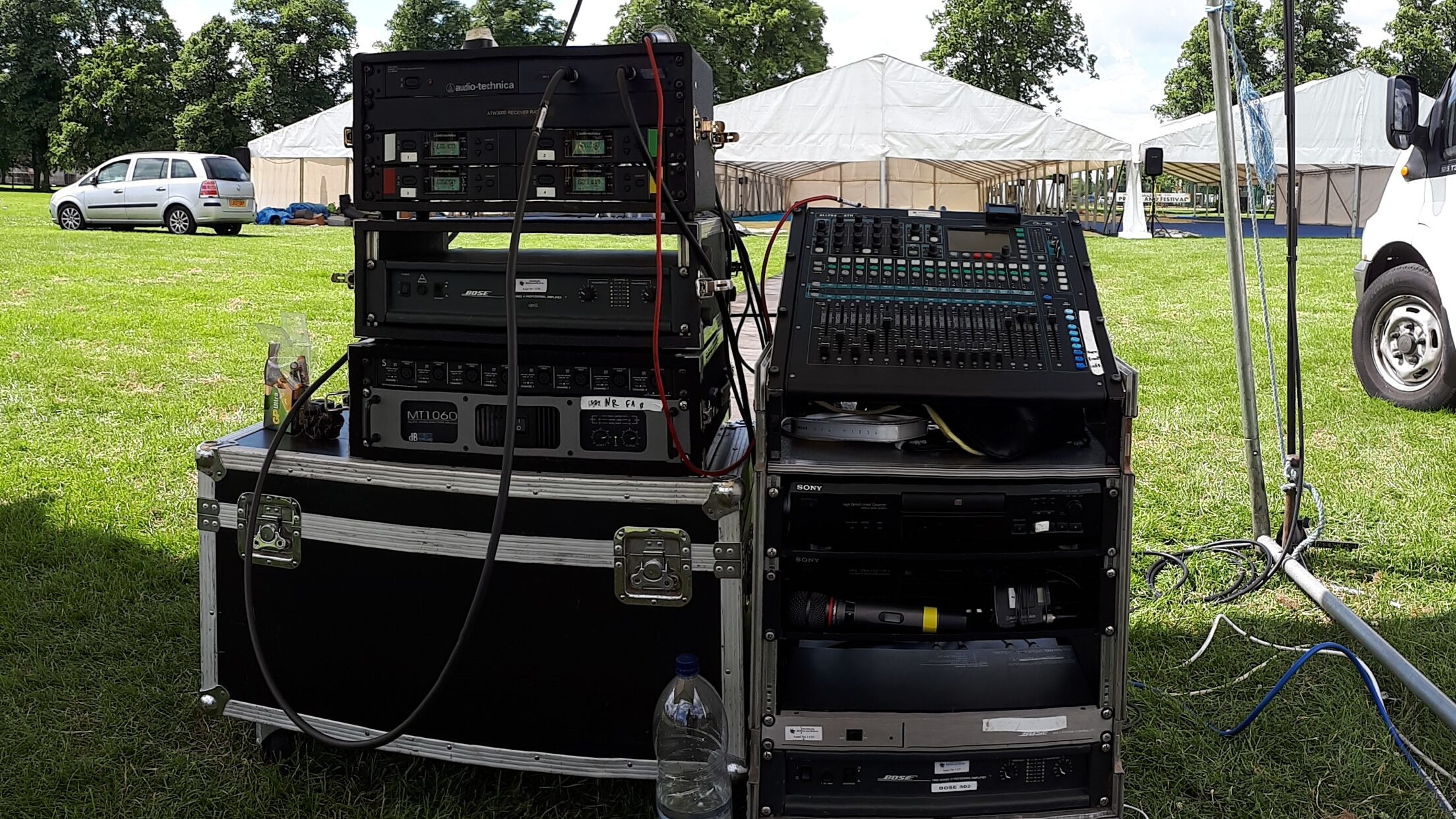 EES Showhire provide bespoke outdoor PA hire solutions for events and marquees