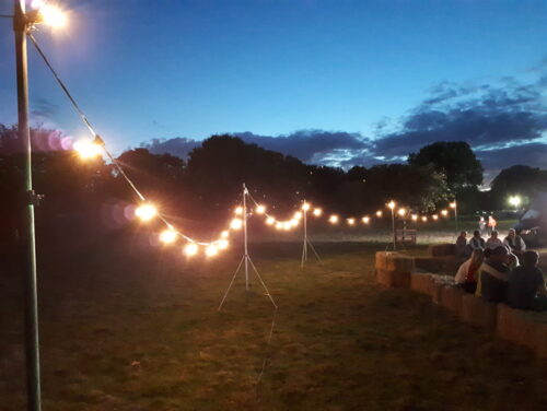 Outdoor events production at South Ormsby Estate in Lincolnshire.