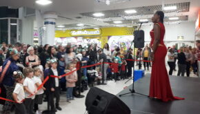 X Factor Finalist performing at Alhambra Shopping centre with EES Showhire production