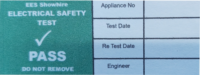 PAT Test Label