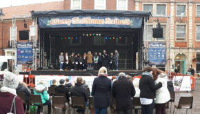 Retford Christmas lights switch on event - EES Showhire stage production and hire