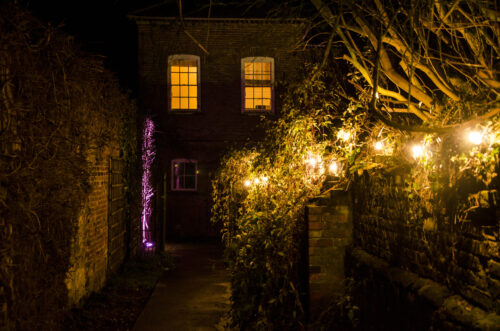 Night creative lighting ideas at South Ormsby Estate Lincolnshire