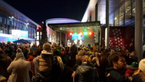Trinity Walk christmas lights switch on event in Wakefield - EES Showhire stage production and hire