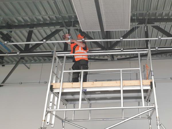 Installation of bespoke manufactured lighting bars