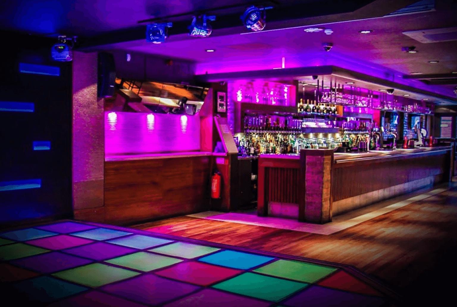 night club dance floor lighting and sound system installation