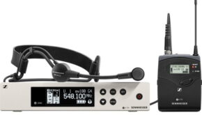 High quality headworn microphone with beltpack on hire by EES Showhire